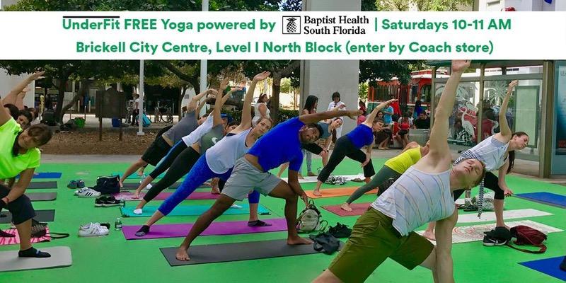 UnderFit Yoga Event @ Brickell City Centre   Miami   Florida   United States
