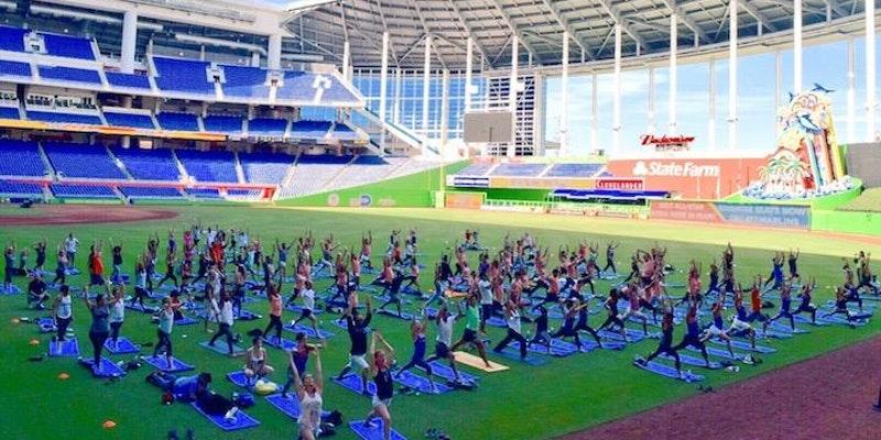 Yoga Day @ Marlin's Park | Miami | Florida | United States