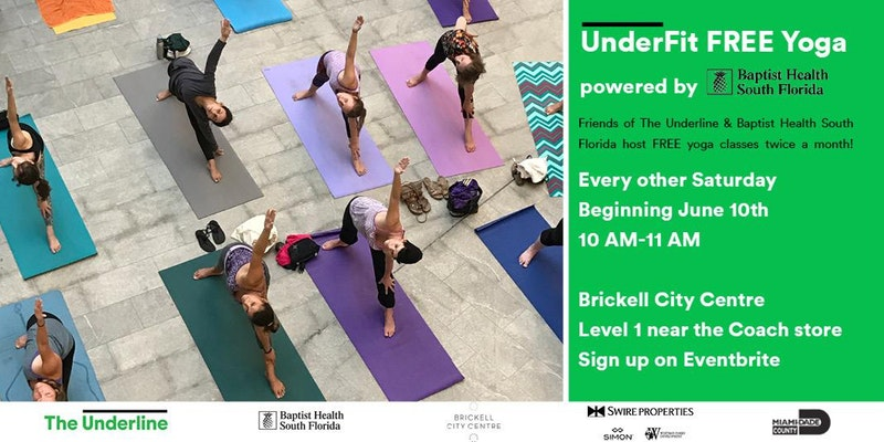 UnderFit Yoga - Free Event @ Brickell City Centre | Miami | Florida | United States
