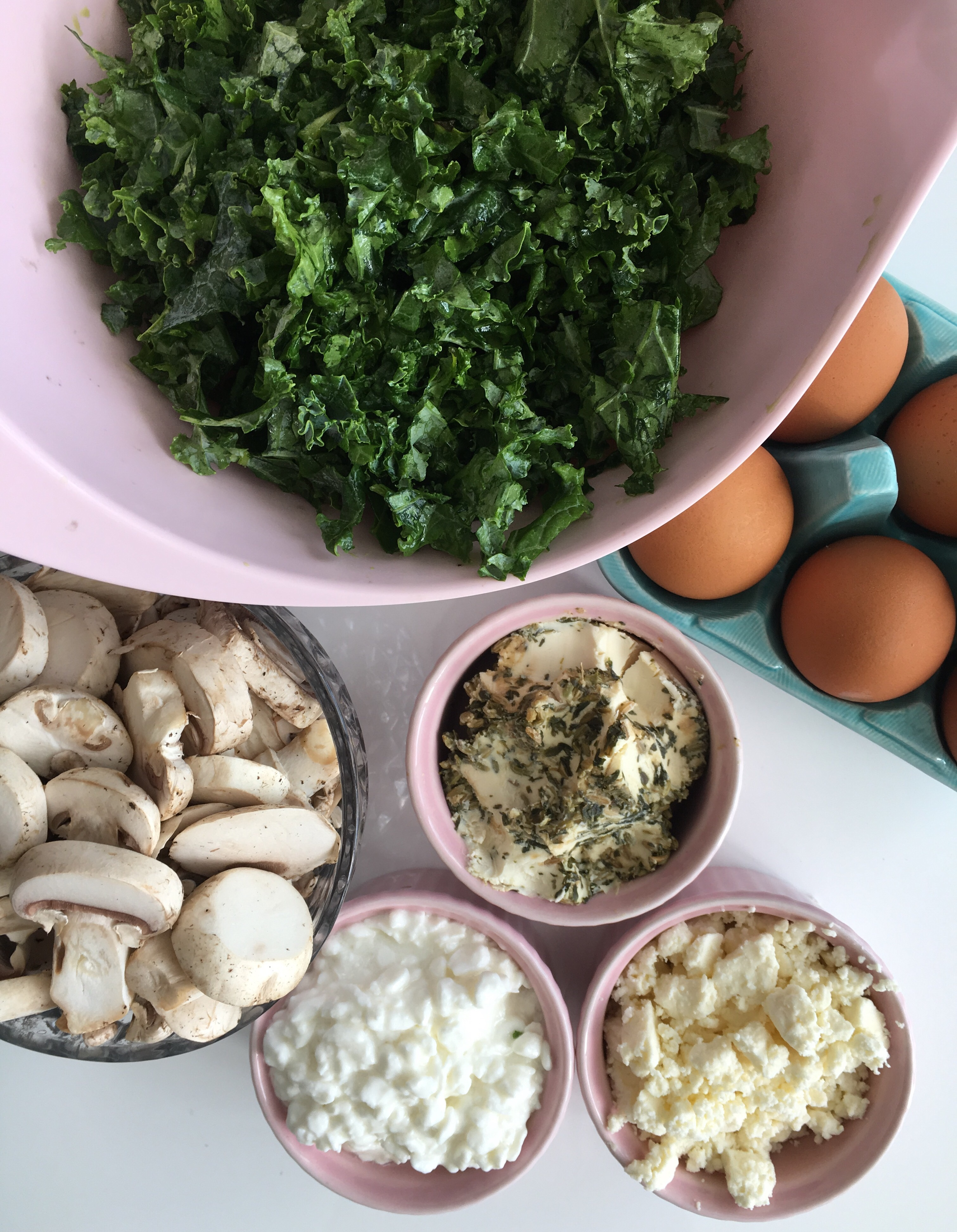 Ingredients for Gluten-Free Quiche