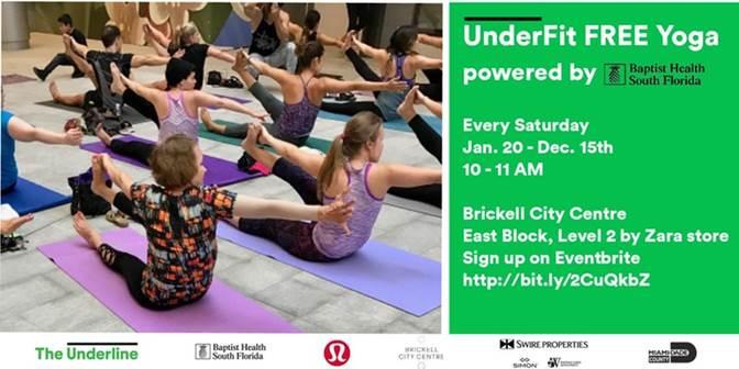 UnderFit Yoga Powered by Baptist Health South Florida @ Brickell City Centre Level Two by Zara | Miami | Florida | United States