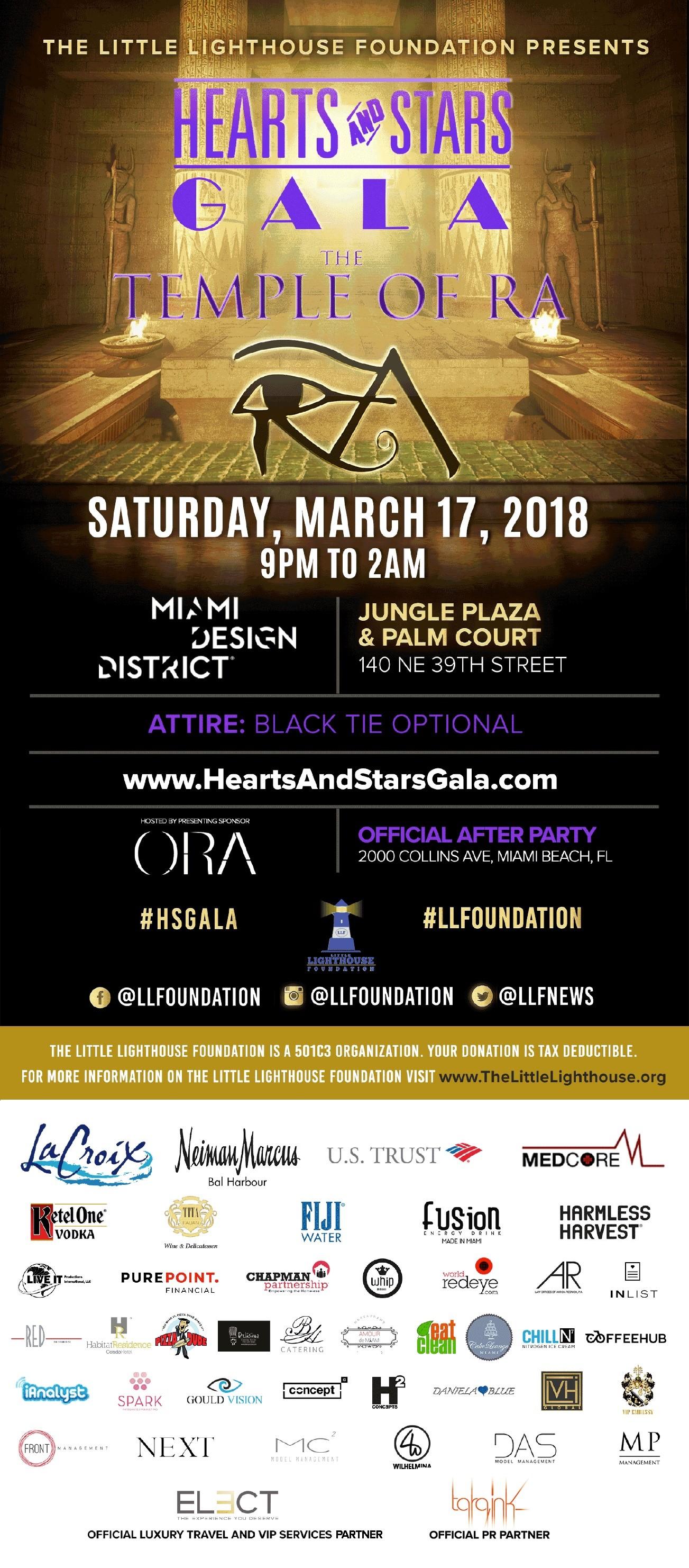 Hearts & Stars Gala 2018 @ Jungle Plaza & Palm Court   Miami   Florida   United States