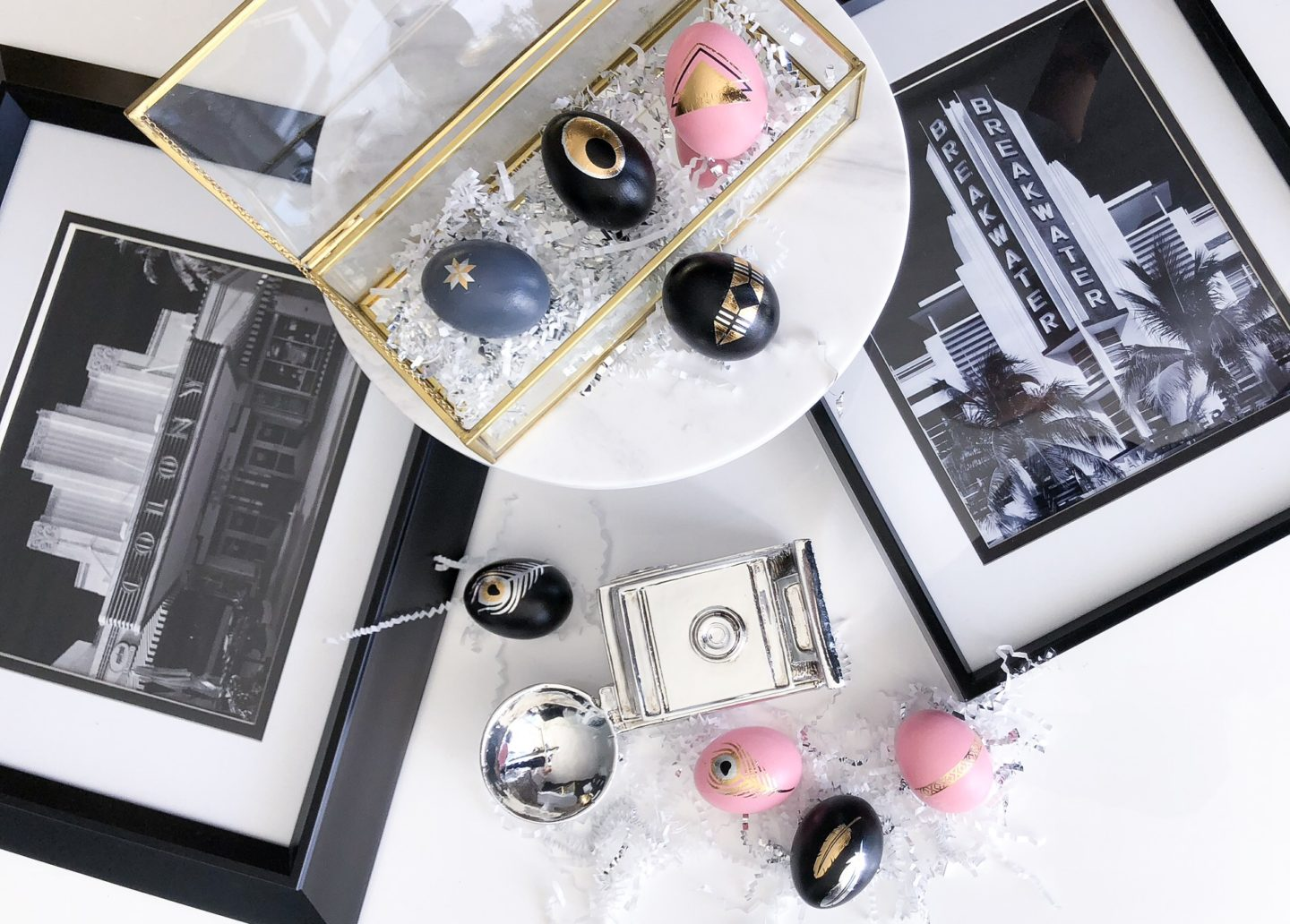 Miami Inspired Art Deco Easter Eggs with a Dash of History