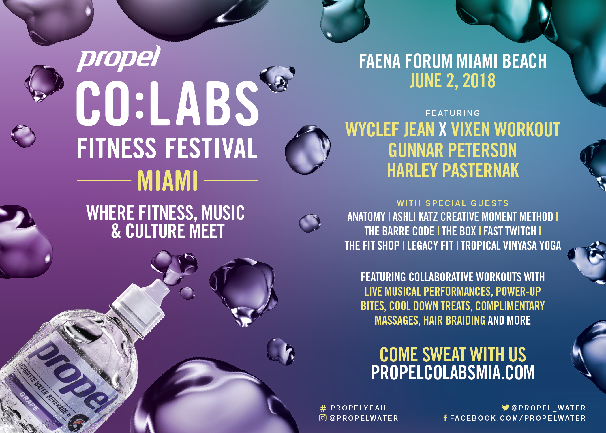 Propel Co:Labs with Wyclef Jean and Vixen Workout @ Faena Hotel | Miami Beach | Florida | United States